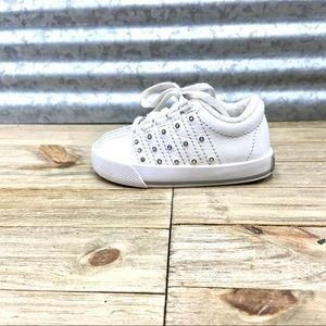 K-Swiss Toddlers Athletic All White Shoes Size 3.5